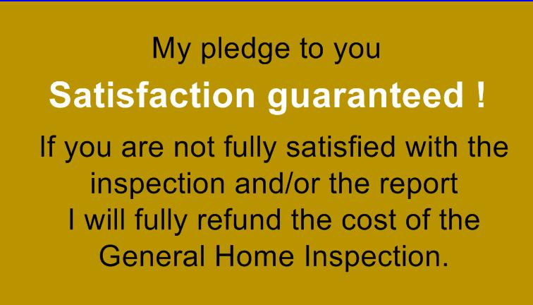 Inspection satisfaction guarantee